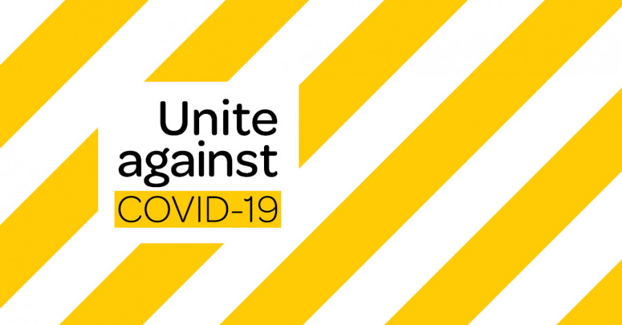 Covid 19 Comms MAR2020 unite against banner v2