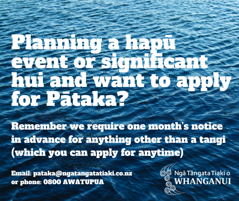 Planning a hapu event or significant hui and want to apply for Pataka
